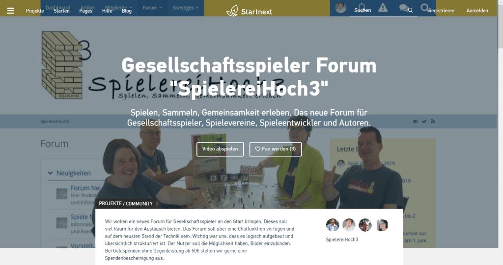 Startnext Kampagne - SpielereiHoch3