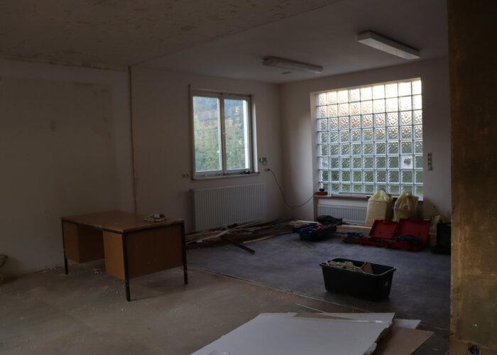 Zukünftige Küche und Büro nun ohne Wand.